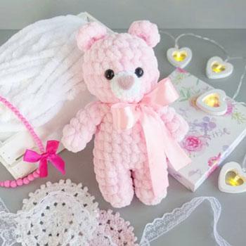 Puha rózsaszín amigurumi maci (ingyenes horgolásminta)
