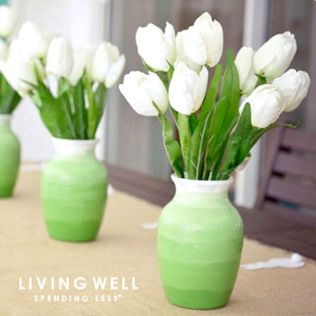 Színátmenetes (ombre) vázák akrilfestékkel egyszerűen
