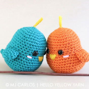 Kicsi amigurumi madárka pár (ingyenes horgolásminta)