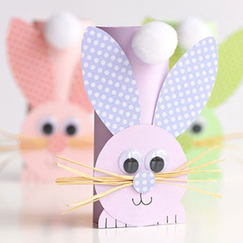 Egyszerű papír nyuszi wc papír gurigából - húsvéti ötlet gyerekeknek