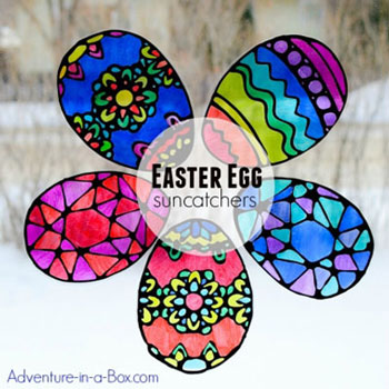 DIY Stained glass Easter eggs ( Easter egg suncatcher craft for kids )