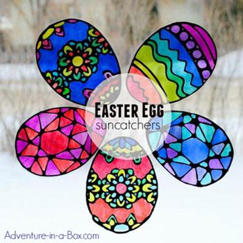 Húsvéti tojás ablakdíszek egyszerűen - húsvéti dekoráció gyerekeknek