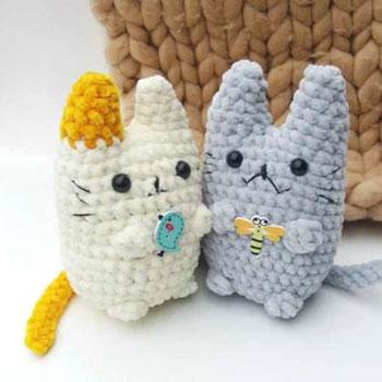 Picur amigurumi Neko cica (ingyenes horgolásminta és videó útmutató)