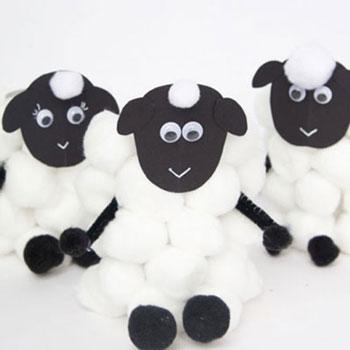 Wc papír guriga bárány - kreatív húsvéti ötlet gyerekeknek