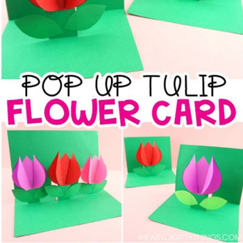 DIY Pop up tulip flower card - Mother's day card
