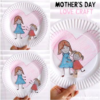 Kedves anyák napi papírtányér bábszínház- ötlet gyerekeknek