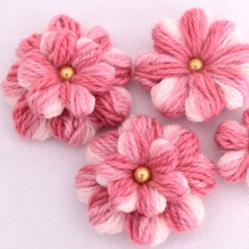 Gyönyörű fonalvirág egyszerűen ( fonalvirág készítés lépésről-lépésre )