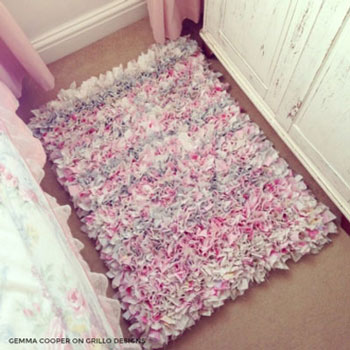 Easy DIY Rag rug - upcycling craft (home decor)