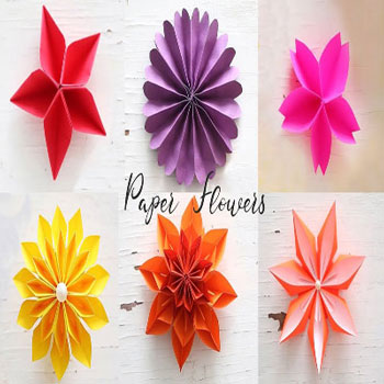 6 Easy DIY paper flower  - origami (paper folding) for beginners