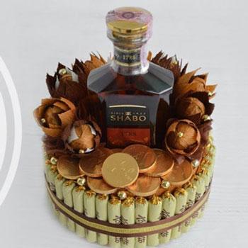 Likőr és bonbon torta - kreatív ajándék ötlet (bonbon csokor)