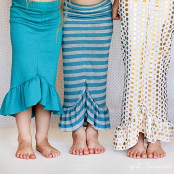Fodros nyári sellő szoknya (varrási útmutató )