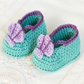 Horgolt sellő cipőcskék (horgolt babacipő) - ingyenes horgolásminta