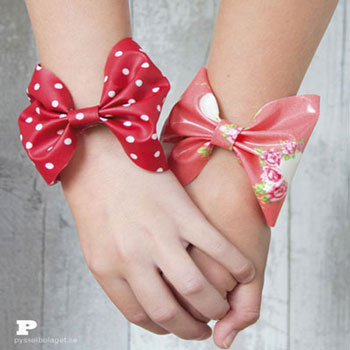 DIY Quick and easy bow bracelets