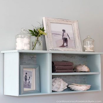 DIY Shelf from an old drawer ( drawer shelf ) - vintage home decor
