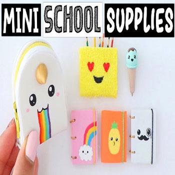 Cuki miniatűr iskolaszerek egyszerűen (vissza az iskolába)