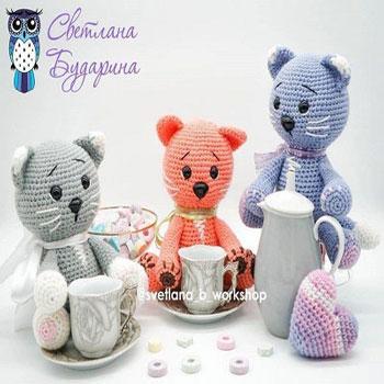 Aranyos ülő amigurumi cica (ingyenes amigurumi minta)