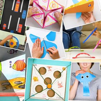 32 Egyszerű mókás papír játék gyerekeknek ( játékkészítés papírból )