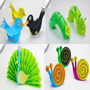 6 Különböző egyszerű papír játék gyerekeknek (kreatív ötletek papírból)
