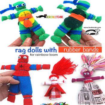 Egyszerű rongybabák varrás nélkül - kreatív ötlet maradék textilből gyerekeknek