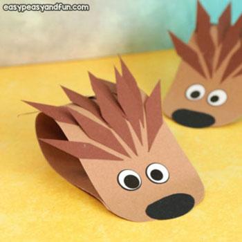 Egyszerű aranyos papír süni - kreatív őszi ötlet gyerekeknek
