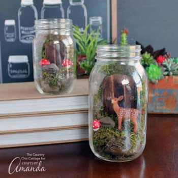 DIY Mason jar fairy garden (terrarium) - woodland home decor