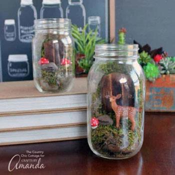 Miniatűr tündérkert befőttes üvegben - kreatív újrahasznosítás