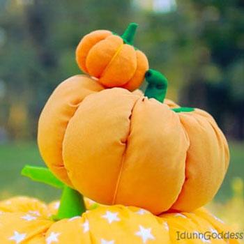 Puha tök párna egyszerűen - kreatív őszi dekoráció