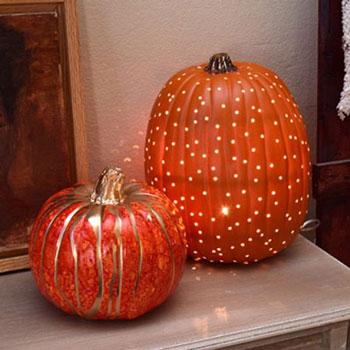 Hangulatlámpa műanyag tökből egyszerűen - őszi dekoráció