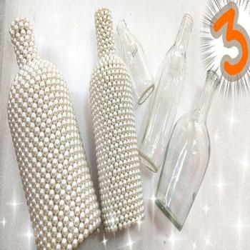Üvegpalack dekorálás gyöngyökkel egyszerűen - kreatív újrahasznosítás
