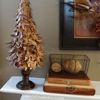 Falevélfa - kreatív őszi dekoráció falevelekből