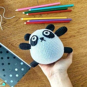 Pufi amigurumi panda (ingyenes amigurumi minta)