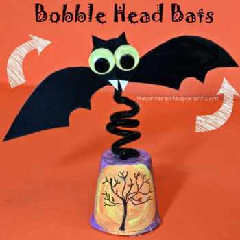 Izgő-mozgó papír denevér - kreatív ötlet gyerekeknek halloweenra