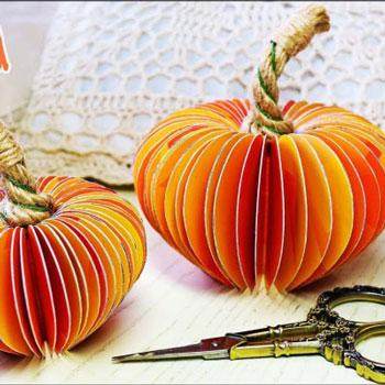 Térbeli papír tökök - őszi dekoráció egyszerűen papírból