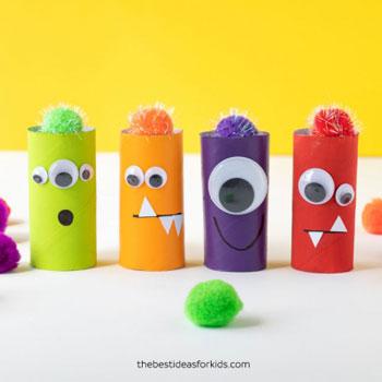 Wc papír guriga szörnyek - kreatív ötlet gyerekeknek Halloweenre