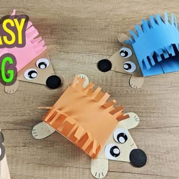 Egyszerű színes papír sünik (sündisznók) - kreatív őszi ötlet gyerekeknek