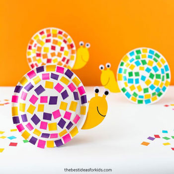 Paper plate snails - fun and simple paper plate craft for kids