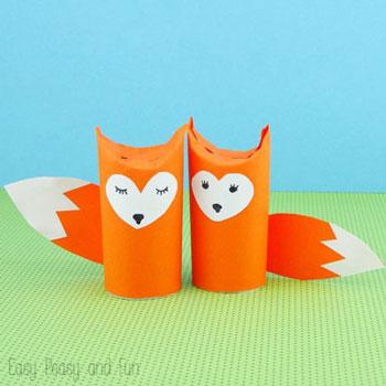 Wc papír guriga róka - kreatív ötlet gyerekeknek őszre