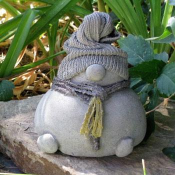 Beton manók egyszerűen házilag - kreatív téli dekoráció