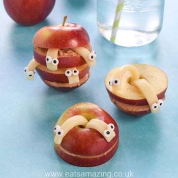 Sajtkukacos alma - kreatív és egészséges étel ötlet gyerekeknek