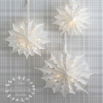 Óriás karácsonyi csillag lámpás papírzacskóból - kreatív karácsonyi dekoráció
