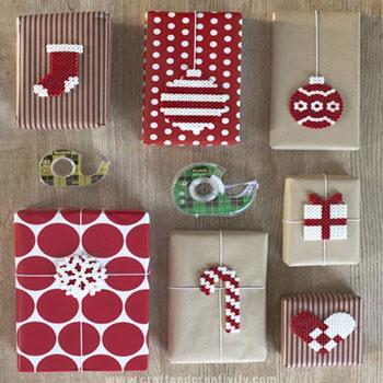 Egyszerű vasalható gyöngy (Hama gyöngy) karácsonyi ajándékkísérők