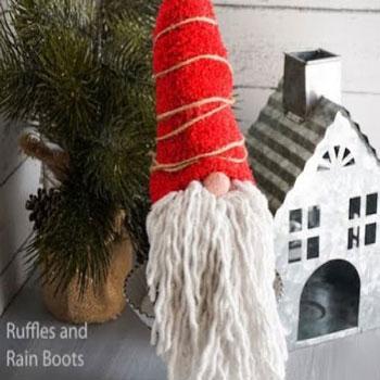 Karácsonyi Mikulás manó házilag egyszerűen (videó útmutató)