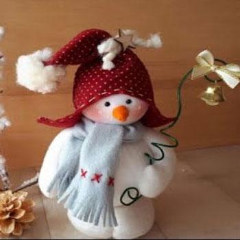 Aranyos filc hóember baba - kreatív karácsonyi dekoráció (videó útmutató)
