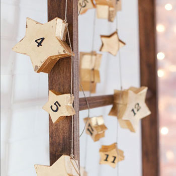 Csillagos adventi kalendárium - különleges adventi kalendárium házilag
