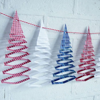 Christmas tree garland (free printable)