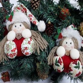 Karácsonyi manólány baba textilből egyszerűen (varrás lépésről-lépésre)
