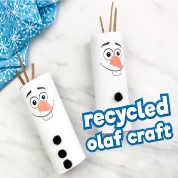 Wc papír guriga hóember: Olaf  (Jégvarázs) - kreatív ötlet gyerekeknek
