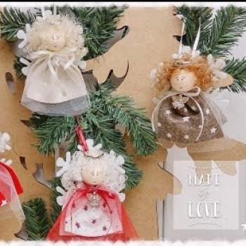 Karácsonyi hópehely tündér (téltündér) textilből egyszerűen
