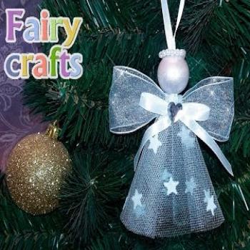 Egyszerű szalag angyalkák - karácsonyfadísz szalagból egyszerűen