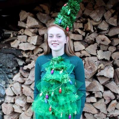 Karácsonyfa jelmez - vicces farsangi jelmez ötlet